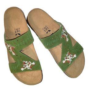 Betula By Birkenstock Zara Suede Leather Sandals